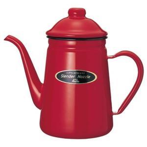 カリタ 細口コーヒーポット 1L レッド ホーロー製 52111 Kalita|n-kitchen