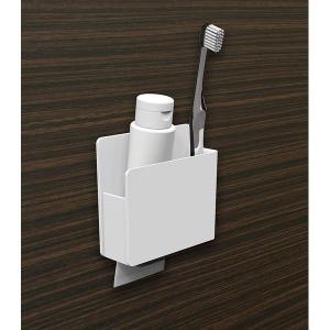 磁着SQ マグネット 歯ブラシ&シェーバーホルダー ホワイト 39203 東和産業 n-kitchen