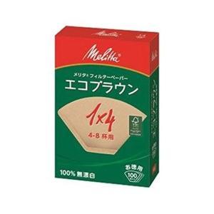 Melitta(メリタ) エコフィルターペーパー ブラウン 1×4G (100枚入) PE-14GB|n-kitchen