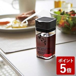 山崎実業 醤油差し プッシュ式醤油差し ミッキー ブラック 90001 Yamazaki|n-kitchen