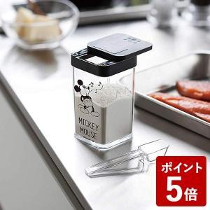 山崎実業 調味料入れ 小麦粉&スパイスボトル ミッキー ブラック 90027 Yamazaki|n-kitchen