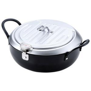 鉄製蓋付 天プラ鍋 24cm IH対応 TM-9090 和平フレイズ|n-kitchen