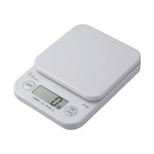 タニタ(TANITA) デジタルクッキングスケール 2kg/1g ホワイト KF-200-WH|n-kitchen