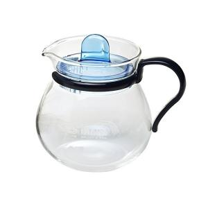 iwaki(イワキ) 耐熱ガラス レンジのポット プチティー ブルー 400ml K842-BL|n-kitchen
