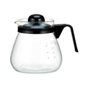 iwaki(イワキ) パイレックス レンジのポットコーヒー 1000 ブラック 7966-BK2|n-kitchen