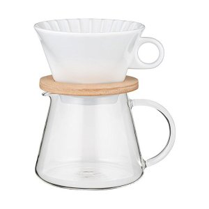 iwaki(イワキ) 耐熱ガラス SNOWTOP コーヒーポット & ドリッパー セット 600ml K9966-M|n-kitchen