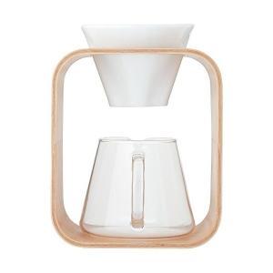 iwaki(イワキ) 耐熱ガラス SNOWTOP コーヒーポット & ドリッパー セット 600ml K9966DS-M|n-kitchen