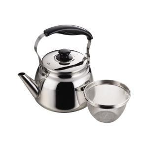 フレッティ ステンレス製 広口ケットル1.6L(茶こしアミ付) H-1235 パール金属|n-kitchen