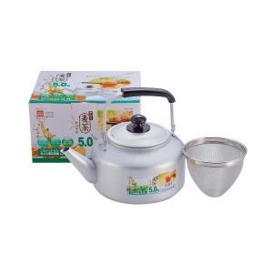 麦茶ケトル 5.0L ガス火専用 茶こし あみ付 アルミ リース H-1435 パール金属|n-kitchen