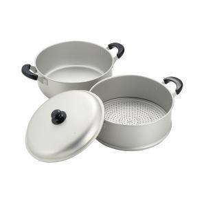 ニューセレット アルミ 2段蒸し器 30cm H2419 パール金属|n-kitchen