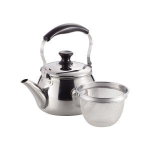 広口 ケトル 1.6L 茶こし あみ付 IH対応 ステンレス オルティ HB-7124 パール金属 n-kitchen