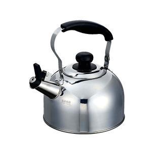 ケトル シルバー 230×185×225mm 笛吹き 2.4L IH対応 ステンレス レジョイプラス HB-7349 パール金属|n-kitchen