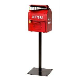 アメリカンヴィンテージ US MAILBOX レッド SI-2855-RD-3000 セトクラフト|n-kitchen