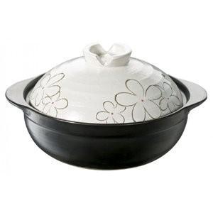 IH&直火対応 土鍋 花飾り 6号 3790 イシガキ産業|n-kitchen