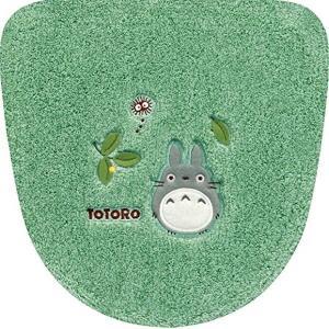 トトロ もりのかぜ 洗浄便座用 ふたカバー グリーン 11831 センコー|n-kitchen