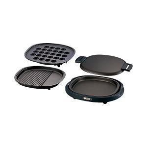 象印(ZOJIRUSHI) ホットプレート 3枚プレート 溝つき焼肉プレート&大たこ焼きプレート&平面プレート EA-BQ30-TD n-kitchen