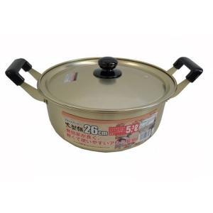 ベストコ 大型鍋 平柄 26cm ND-1205|n-kitchen