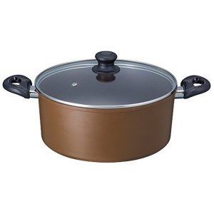 ダイヤモンドコート IH煮込み鍋 28cm アリエッタ ブラウン ND-5495 ベストコ|n-kitchen