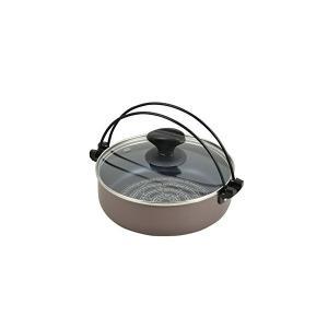 IH対応 ガラス蓋付すきやき鍋 20cm ブルーダイヤモンドコート NEWビストロ庵 ND-8541 n-kitchen