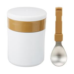 ステンレスフードマグ 400ml スプーン付 ホワイト ホットすまいる ND-8594 ベストコ n-kitchen