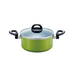 プレミアムコート IHキャセロール 20cm グリーン ND-3063 ベストコ n-kitchen