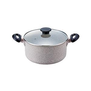 ベストコ IHハイキャセロール 24cm グレー マーブルストーン2コート ヴァリエンテ ND-8935 n-kitchen