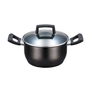 ベストコ IHキャセロール クリアーブラック 20cm ステンレス3層底ふっ素樹脂加工 グローリエ ND-3893 n-kitchen