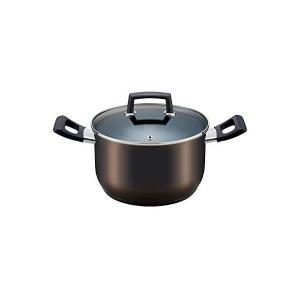 ベストコ IHシチューポット クリアーブラック 22cm ステンレス3層底ふっ素樹脂加工 グローリエ ND-3894 n-kitchen