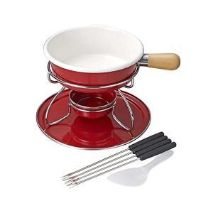 ベルマーニ ホーロー チーズフォンデュ鍋 セット レッド H-3091 パール金属|n-kitchen