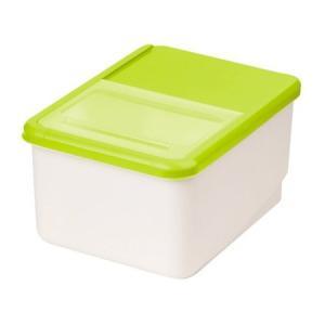 システムキッチン用米びつ 10kg用 グリーン パール金属(PEARL METAL)|n-kitchen
