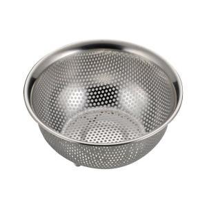 アクアシャイン ステンレス製 パンチ ボール型 ザル 15cm H-9129 パール金属 n-kitchen