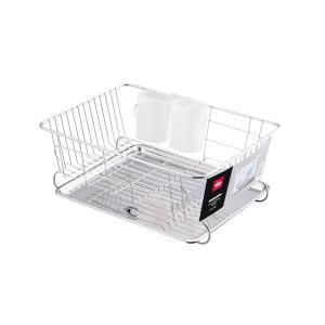 食器 水切り かご スライド式 トレー付 ステンレス アルファージュ H-9544 パール金属 n-kitchen