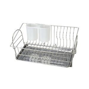 食器 水切り かご スリム トレースライド式 ステンレス アルファージュ H-9557 パール金属|n-kitchen