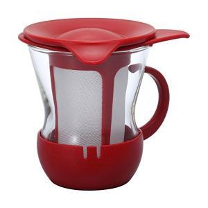 HARIO(ハリオ) ワンカップ ティー マグ 200ml レッド OTMH-1R|n-kitchen