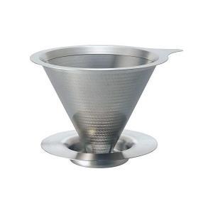 HARIO ドリッパー ヘアラインシルバー 1〜2杯用 オールステンレス製ダブルメッシュフィルターのドリッパー DMD-01-HSV ハリオ n-kitchen