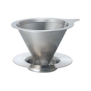 HARIO ドリッパー シルバー 1〜4杯用 オールステンレス製ダブルメッシュフィルターのドリッパー DMD-02-HSV ハリオ n-kitchen