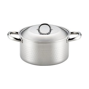 ステンレス槌目鍋 両手 20cm (日本製/IH対応) SJ2359 n-kitchen