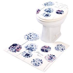 ラネージュ トイレ フタカバー 2点セット 洗浄・暖房用 ヨコズナクリエーション|n-kitchen