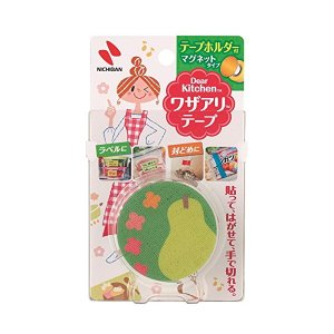 ニチバン Dear Kitchen ワザアリテープ ホルダー付き 緑 25mm×6m n-kitchen