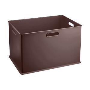 サンカ 収納ボックス Lサイズ ピュアブラウン squ+ インボックス SQB-L-BR 日本製 n-kitchen