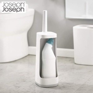 ジョセフジョセフ Joseph Joseph フレックスプラス トイレブラシ 収納スタンド付き グレー 70516|n-kitchen