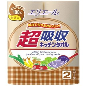 超吸収キッチンタオル無漂白2R|n-kitchen