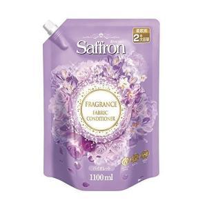 香りサフロン 柔軟剤 バイオレットの香り 詰替用大容量 1100mL|n-kitchen