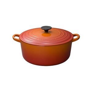 ル・クルーゼ ココット・ロンド 2501 26cm オレンジ|n-kitchen