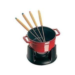 ストウブ ミニ チョコ フォンデュセット 40509-900チェリー|n-kitchen