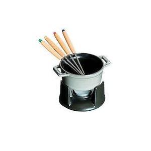 ストウブ ミニ チョコ フォンデュセット 40509-586グレー|n-kitchen