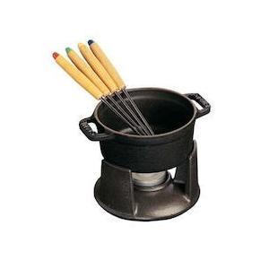 ストウブ ミニ チョコ フォンデュセット 40509-587黒|n-kitchen