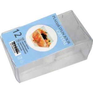 ソリア ミニキューブカーブエッジ12個入 FF02000クリア|n-kitchen