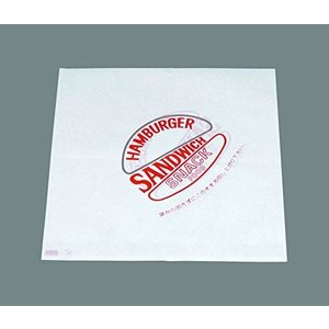 バーガー袋(500枚入) 赤00032|n-kitchen