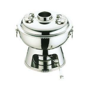 UK18-8雷門渕ホーコー鍋 固形ランプ付 25cm QHC11025|n-kitchen